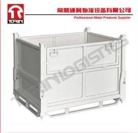 通润折叠零件周转筐(L1000*W800mm)金属料筐 板箱 料箱