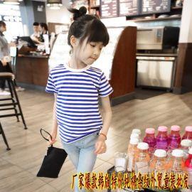 新款地摊儿童短袖T恤衬衫爆款热卖韩版特价小童半袖t恤批发  库存
