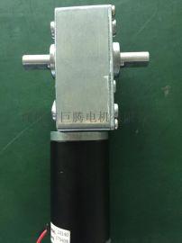 双出轴58蜗杆减速电机