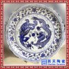 景德镇陶瓷青花大瓷盘 手绘大盘 1米1.2m海鲜大盘生产厂家