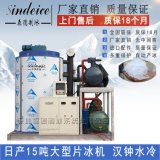 15吨大型片冰机 工业水冷食品加工制冰机设备