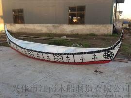 手工制作室内外欧式景观装饰彩绘船道具木船