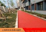 上海嘉定廣場|透水混凝土施工|彩色混凝土廠家