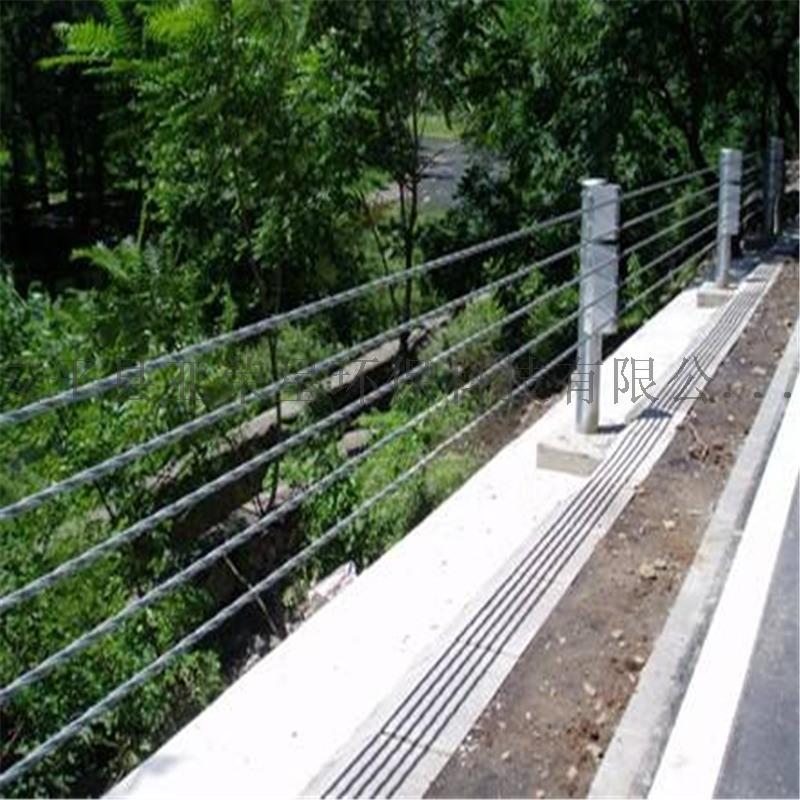 五索柔性缆索护栏,公路缆索防撞护栏