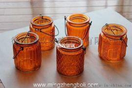 厂家出口 外贸 玻璃花瓶 蜡烛台 蜡烛杯 玻璃烛台 喷色 上色
