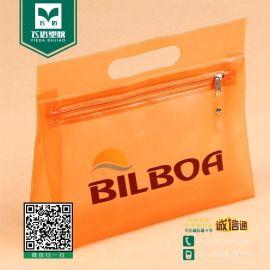 PVC三角立体手提袋 PVC拉链袋 化妆品收纳袋 洗漱用品包装袋