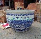 陶瓷商场风水摆设缸 定做 大师手绘陶瓷缸
