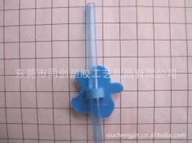 定制3D卡通企鹅PVC软胶吸管套饰品