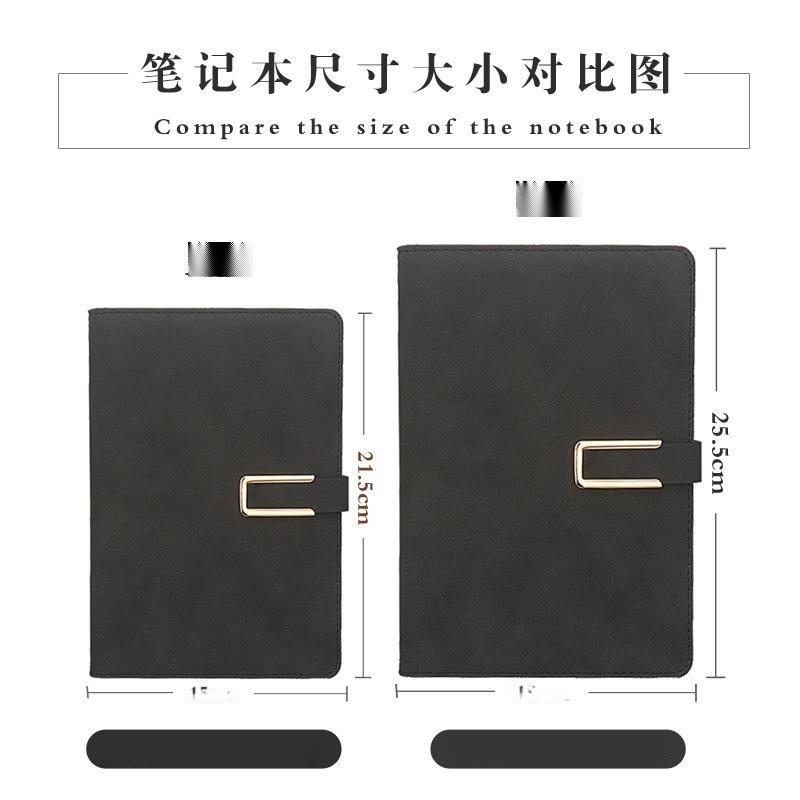 现货商务皮面记事本礼品套装加厚笔记本文具礼盒本子定制订做logo