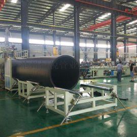 PE大口径管材钢带增强聚乙烯螺旋波纹管,使用寿命长
