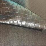 菱形格0.8mm拉毛布皮革人造革面料