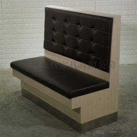 三胺板卡座沙发,时尚新款韩式料理餐厅卡座定做