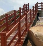 江西河道景观安全护栏 钢筋砼仿木栏杆美观耐用