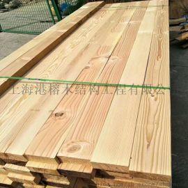 上海港榕建筑木木材花旗松批量销售