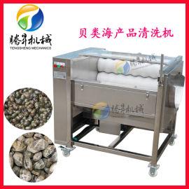 贝类海鲜 蛏子清洗机 电动毛刷清洗去泥机