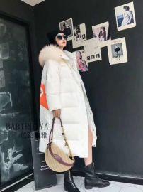 当季新款芭芘瑞雅高品质羽绒服品牌折扣店代理超低价