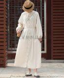 棉麻連衣裙