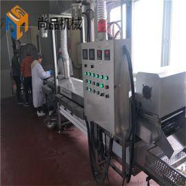 拉丝鸡米花裹粉机 自动爆浆芝士鸡米花上粉油炸生产线