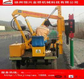 高速公路护栏板液压打桩机 230型号波形护栏立柱打桩钻孔一体机