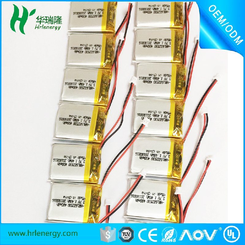 聚合物锂电池厂家 602530-480mah电池
