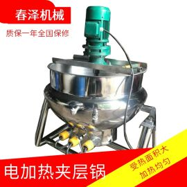 全自动炒面粉行星搅拌锅  电磁加热炒面夹层锅
