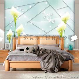 18D超强立体壁画个性定制电视沙发背景千彩装饰画
