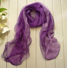 新款紫色围巾