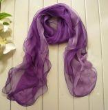 新款紫色圍巾