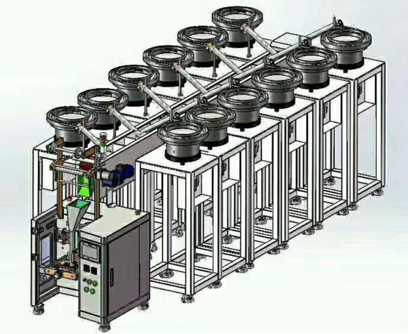 多盘五金配件混包装设备  五金包装机 五金混包装机