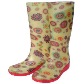 漂亮的女式雨鞋(WB08-PVC026)