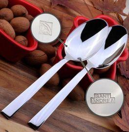 德国SANTANDREA 镜面设计精至简约汤勺 饭勺 晚餐勺 不锈钢勺子