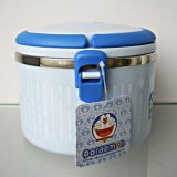 正品哆啦A夢便當盒 卡通雙層不鏽鋼保溫飯盒