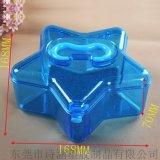 廠家提供 SH-6413A星形時尚手提盒 高透明化妝盒 168*168*85MM