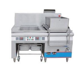 北京益友中央厨房设备全不锈钢自动化控制YY-80型双缸油炸炉