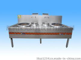 商用厨房设备-双头双尾小炒炉-厨房工程必选灶具