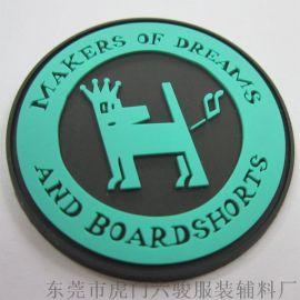 绿色环保硅胶商标 硅胶商标胶章 滴胶商标 PVC商标订制加工厂家