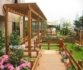 庭院防腐木葡萄架 花园实木护栏花架 木凉亭