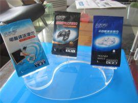 郑州有机玻璃厂家 亚克力三页旋转台卡 湿巾展示架 亚克力桌牌