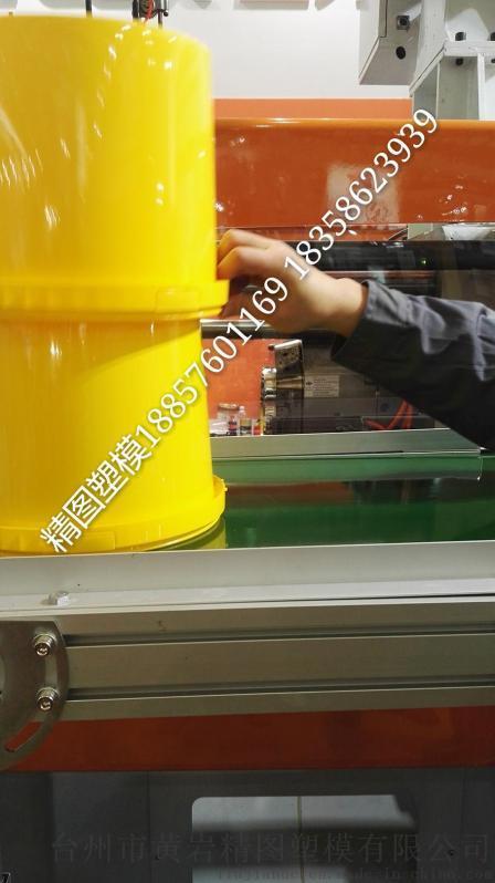 双色塑料桶模具 异形水桶模具