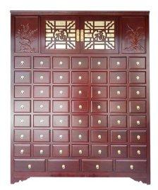 厂家直销实木中药柜,中药操作台,参茸展柜,整体药房设计制作
