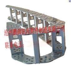 机床能源穿线钢铝拖链、线缆穿线钢制拖链---鹏阔生产