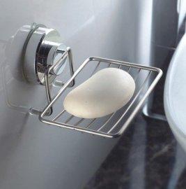 强力不锈钢吸盘式肥皂架(CT-2005S)