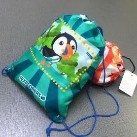 定制拉绳双肩束口袋背包袋培训补习环保袋旅行赛事爬山收纳袋布袋