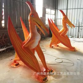 景观园林动物雕塑定制 玻璃钢恐龙雕塑商场动物主题摆件