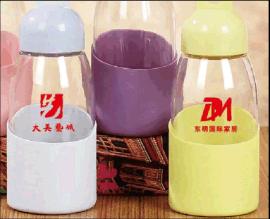 水滴杯 企鹅杯 防烫保温学生玻璃杯学生水瓶 促销礼品杯印logo
