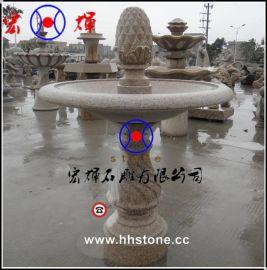 工厂现货供应黄锈石喷泉/黄锈石水钵雕刻
