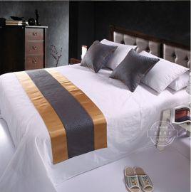 酒店四件套纯棉 直销纯棉白色贡缎提花床单