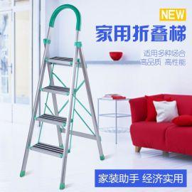 厂家直销梯子家用折叠伸缩梯加厚宽踏板人字梯多功能人字升降梯