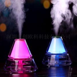 直销冰山加湿器 usb迷你夜灯水晶加湿器家用小加湿器