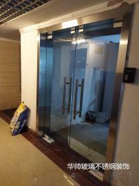 深圳上门定制玻璃门办公室店面公司玻璃门玻璃隔断/维修地弹簧玻璃门